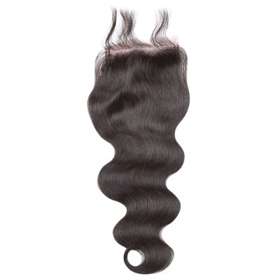 Peruvian Body Wave Lace Closure 8A Virgin Hair Natural 1B Color