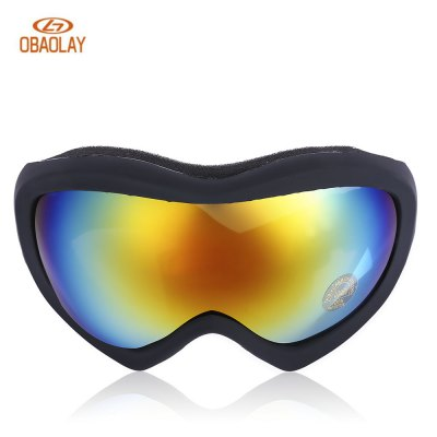 OBAOLAY HB902 Anti-fog UV Protection Skiing Goggles Mask
