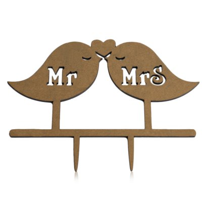 Bird Letters Wedding Cake Inserted Card Decoration