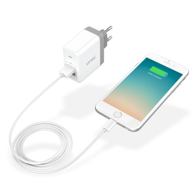 VINSIC VSCW208 Wall ChargerChargers &amp; Cables<br>VINSIC VSCW208 Wall Charger<br><br>Package Contents: 1 x Charger<br>Package Size(L x W x H): 11.70 x 9.10 x 3.50 cm / 4.61 x 3.58 x 1.38 inches<br>Package weight: 0.1500 kg<br>Product Size(L x W x H): 5.65 x 6.70 x 3.00 cm / 2.22 x 2.64 x 1.18 inches<br>Product weight: 0.0860 kg