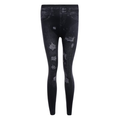 High Waist Ripped Skinny Jeans for Women