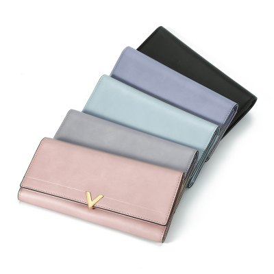 Brief Solid Color PU Leather Women PurseWomens Wallets<br>Brief Solid Color PU Leather Women Purse<br><br>Wallets Type: Mini Wallets<br>Gender: For Women<br>Style: Fashion<br>Closure Type: Piston<br>Pattern Type: Solid<br>Main Material: PU Leather<br>Height: 2.8<br>Width: 9.7<br>Length(CM): 19.2<br>Color: Black, Pink, Griege, Smoky Gray, Gray.<br>Product weight: 0.177 kg<br>Package weight: 0.201 kg<br>Package size (L x W x H): 19.40 x 9.90 x 3.00 cm / 7.64 x 3.9 x 1.18 inches<br>Package Contents: 1 x Purse