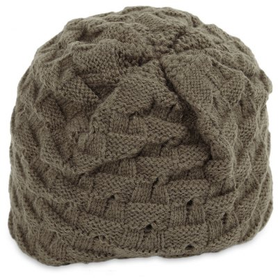 Dual Use Hollow Out Star Design Male Knitted Hat