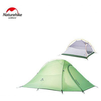 Lightweight 2 Person Outdoor Camping Tent Kit Soft Silicone Rain-proof Anti-pest with Carry Bag