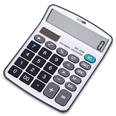 KLT SJC - 3138 Dual Power Supply Electronic Calculator