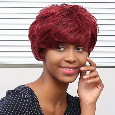 EMMOR Short Human Hair WigsHuman Hair Wigs<br>EMMOR Short Human Hair Wigs<br><br>Bang Type: Side<br>Cap Size: Adjustable<br>Gender: Female,Girl<br>Length: Short<br>Length Size(CM): 20<br>Length Size(Inch): 7.87<br>Material: Human Hair<br>Net Type: Rose Net<br>Package Contents: 1 x Wig<br>Package size (L x W x H): 30.00 x 20.00 x 5.00 cm / 11.81 x 7.87 x 1.97 inches<br>Package weight: 0.1450 kg<br>Product weight: 0.1000 kg<br>Style: Straight<br>Type: Full Wigs