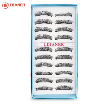 LDIANER Extension Natural Long Cross Thick Fake Eyelashes