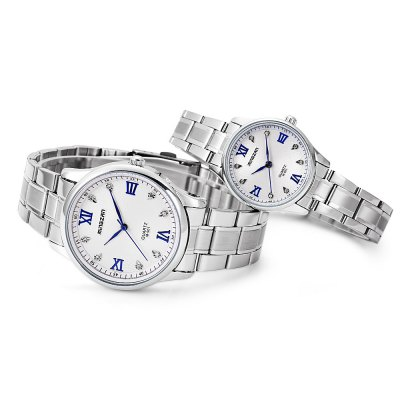 MINGZAN Couple Quartz WatchCouples Watches<br>MINGZAN Couple Quartz Watch<br><br>Band Length: men: 8.66 inch, women: 7.87 inch<br>Band Material Type: Stainless Steel<br>Band Width: men: 18mm, women: 12mm<br>Case material: Alloy<br>Case Shape: Round<br>Clasp type: Folding Clasp<br>Dial Diameter: men: 1.48 inch, women: 1.11 inch<br>Dial Display: Analog<br>Dial Window Material Type: Glass<br>Gender: lovers,Men,Women<br>Movement: Quartz<br>Package Contents: 1 x Watch<br>Package Size(L x W x H): 9.00 x 8.00 x 5.50 cm / 3.54 x 3.15 x 2.17 inches<br>Package weight: 0.178 kg<br>Product Size(L x W x H): 22.00 x 7.00 x 0.80 cm / 8.66 x 2.76 x 0.31 inches<br>Product weight: 0.125 kg<br>Style: Fashion &amp; Casual