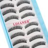 LDIANER Extension 10 Pairs Long Cross Thick Fake Eyelashes for sale