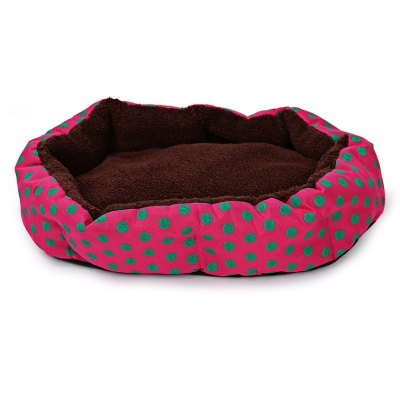 Lovely Polka Dot Soft Washable Pet Dog Cat Bed House Nest Pad