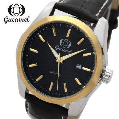 Gucamel B006 Men Quartz Watch Leather Band