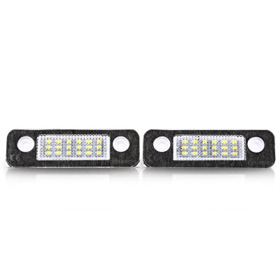 Pair of Car License Plate Lamp for Ford Fiesta