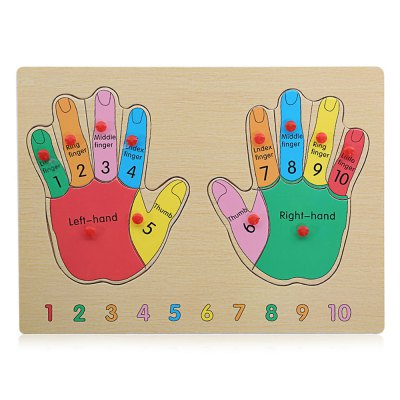 Puzzle Hands Wooden Building Block Child Educational Toy