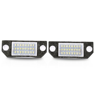 Pair of Car License Plate Lamp for Ford Focus