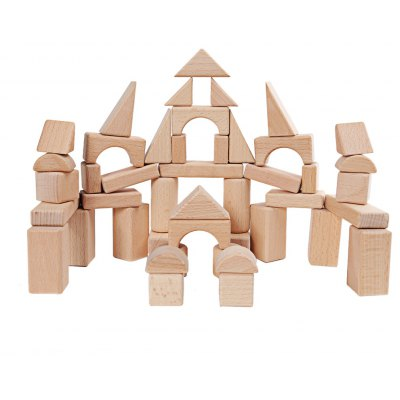 Mumama Wooden Grain Bulk Building Blocks Kids Toy