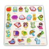 Mumama Wooden Building Block Animal Letter Puzzle Toy