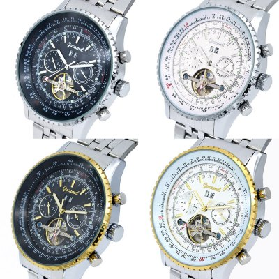 Gucamel GC034 Men Auto Mechanical WatchMens Watches<br>Gucamel GC034 Men Auto Mechanical Watch<br><br>Band Length: 9.45 inch<br>Band Material Type: Stainless Steel<br>Band Width: 20mm<br>Case material: Alloy<br>Case Shape: Round<br>Clasp type: Folding Clasp<br>Dial Diameter: 1.87 inch<br>Dial Display: Analog<br>Dial Window Material Type: Hardlex<br>Feature: Luminous, Day, Date<br>Gender: Men<br>Movement: Automatic Self-Wind<br>Package Contents: 1 x Watch<br>Package Size(L x W x H): 14.50 x 6.00 x 2.00 cm / 5.71 x 2.36 x 0.79 inches<br>Package weight: 0.188 kg<br>Product Size(L x W x H): 24.00 x 5.00 x 1.50 cm / 9.45 x 1.97 x 0.59 inches<br>Product weight: 0.159 kg<br>Style: Business<br>Water Resistance Depth: 30m