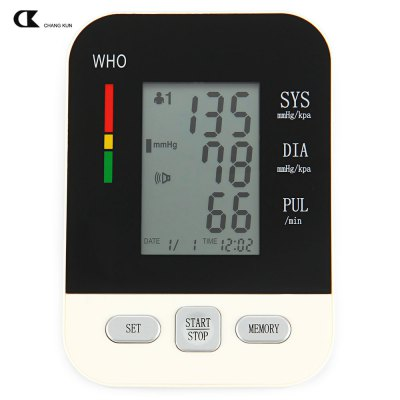 CHANGKUN Electric Voice Digital LCD Arm Blood Pressure Monitor Heart Beat Meter Machine