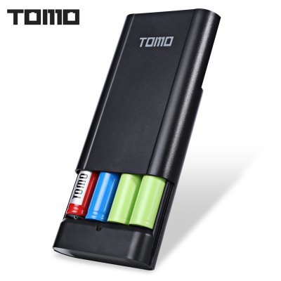 TOMO M4 DIY 4 x 18650 Li-ion Battery Smart Power ChargerChargers<br>TOMO M4 DIY 4 x 18650 Li-ion Battery Smart Power Charger<br><br>Package Contents: 1 x Power Bank, 1 x USB Charging Cable<br>Package Size(L x W x H): 21.00 x 11.00 x 3.00 cm / 8.27 x 4.33 x 1.18 inches<br>Package weight: 0.1480 kg<br>Product Size(L x W x H): 10.00 x 8.40 x 2.70 cm / 3.94 x 3.31 x 1.06 inches<br>Product weight: 0.0860 kg
