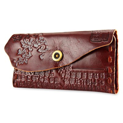 Chinese Characters Print Style Unisex Snap Fastener WalletMens Wallets<br>Chinese Characters Print Style Unisex Snap Fastener Wallet<br><br>Closure Type: Snap Fastener<br>Color: Dark auburn, red, coffee, green<br>Gender: For Unisex<br>Height: 10<br>Length(CM): 20<br>Main Material: Genuine Leather<br>Package Contents: 1 x Wallet<br>Package size (L x W x H): 20.50 x 2.50 x 10.50 cm / 8.07 x 0.98 x 4.13 inches<br>Package weight: 0.192 kg<br>Pattern Type: Print<br>Product weight: 0.171 kg<br>Style: Casual<br>Wallets Type: Clutch Wallets<br>Width: 2