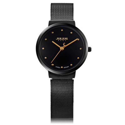 Julius JA - 426L Ladies Analog Quartz WatchWomens Watches<br>Julius JA - 426L Ladies Analog Quartz Watch<br><br>Band material: Stainless Steel<br>Brand: Julius<br>Case material: Alloy<br>Clasp type: Folding clasp with safety<br>Display type: Analog<br>Movement type: Quartz watch<br>Package Contents: 1 x Julius JA - 426L Ladies Quartz Watch<br>Package size (L x W x H): 8.00 x 8.50 x 7.00 cm / 3.15 x 3.35 x 2.76 inches<br>Package weight: 0.097 kg<br>Product size (L x W x H): 22.50 x 3.00 x 0.60 cm / 8.86 x 1.18 x 0.24 inches<br>Product weight: 0.037 kg<br>Shape of the dial: Round<br>Style: Ultrathin<br>The band width: 1.3 cm / 0.51 inches<br>The dial diameter: 3 cm / 1.18 inches<br>The dial thickness: 0.6 cm / 0.24 inches<br>Watches categories: Female table<br>Water resistance : 30 meters<br>Wearable length: 16 - 21 cm / 6.30 - 8.26 inches