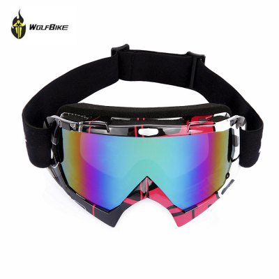 WOLFBIKE Unisex UV Protection Anti-fog Lens Skiing Goggles