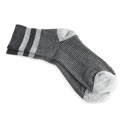 Paired Men Sport Breathable Cotton Stripe Thickening Socks