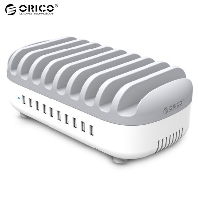 ORICO Multifunctional 120W 10 USB Charging Stand Station