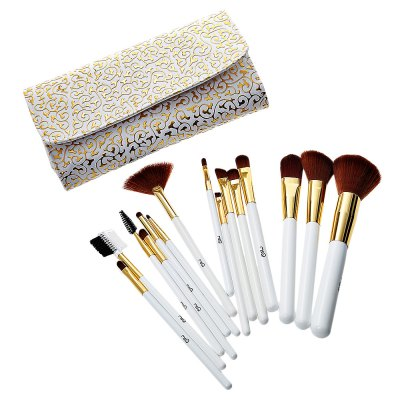 MSQ 15pcs Rome Style Print Makeup Brushes Set with Storage Bag