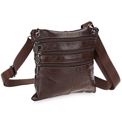 FONMOR Detachable Strap Leather Shoulder Bag for MenHandbags<br>FONMOR Detachable Strap Leather Shoulder Bag for Men<br><br>Closure Type: Zipper<br>External Material: Leather<br>Gender: For Men<br>Handbag Type: Shoulder bag<br>Internal Material: Polyester<br>Package Contents: 1 x Shoulder Bag<br>Package size (L x W x H): 18.50 x 1.50 x 18.50 cm / 7.28 x 0.59 x 7.28 inches<br>Package weight: 0.230 kg<br>Pattern Type: Others<br>Product size (L x W x H): 18.00 x 1.00 x 18.00 cm / 7.09 x 0.39 x 7.09 inches<br>Product weight: 0.170 kg<br>Style: Retro