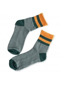 Paired Men Striped Sports Socks