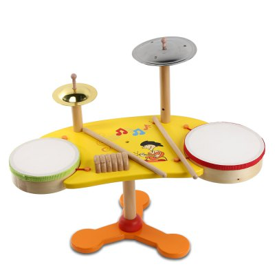 youlebi Wooden Musical Jazz Drum Educational Toy for Kids