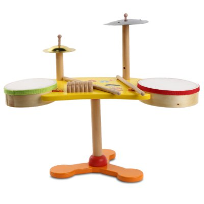 Youlebi wooden musical jazz drum educational toy for kids...
