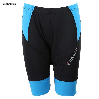 REALTOO Padded Air Permeability Fabric Cycling Short