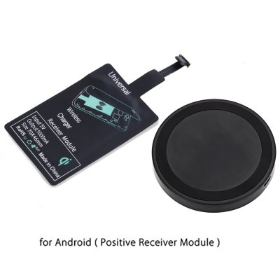 Qi Wireless Charger + Charging Receiver for Android