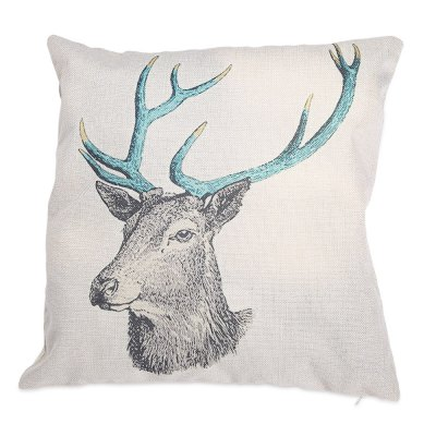 Cartoon Deer Cotton Linen Pillow Cushion Cover Case