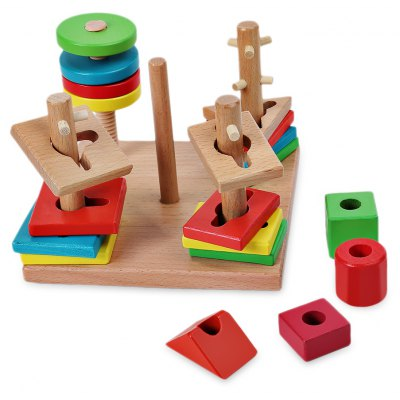 Funny Creative Wooden Shape Match Building Block for Kids