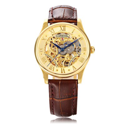 CARNIVAL 6420G Male Auto Mechanical WatchMens Watches<br>CARNIVAL 6420G Male Auto Mechanical Watch<br><br>Band Length: 8.66 inch<br>Band Material Type: Genuine Leather<br>Band Width: 18mm<br>Case material: Stainless Steel<br>Case Shape: Round<br>Clasp type: Butterflu Clasp<br>Dial Diameter: 1.38 inch<br>Dial Display: Analog<br>Dial Window Material Type: Sapphire<br>Gender: Men<br>Movement: Automatic Self-Wind<br>Package Contents: 1 x Watch<br>Package Size(L x W x H): 13.20 x 11.20 x 7.40 cm / 5.2 x 4.41 x 2.91 inches<br>Package weight: 0.276 kg<br>Product Size(L x W x H): 26.00 x 4.00 x 1.00 cm / 10.24 x 1.57 x 0.39 inches<br>Product weight: 0.056 kg<br>Style: Business<br>Water Resistance Depth: 30m