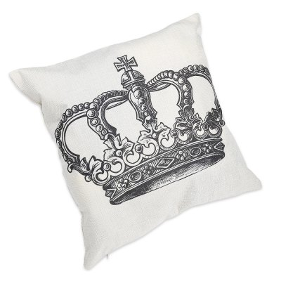 Crown Pattern Cotton Linen Pillow Cushion Cover CasePillow<br>Crown Pattern Cotton Linen Pillow Cushion Cover Case<br><br>Package Contents: 1 x Pillow Cushion Cover<br>Package Size(L x W x H): 13.00 x 13.00 x 4.00 cm / 5.12 x 5.12 x 1.57 inches<br>Package weight: 0.102 kg<br>Product Size(L x W x H): 45.00 x 45.00 x 0.20 cm / 17.72 x 17.72 x 0.08 inches<br>Product weight: 0.081 kg