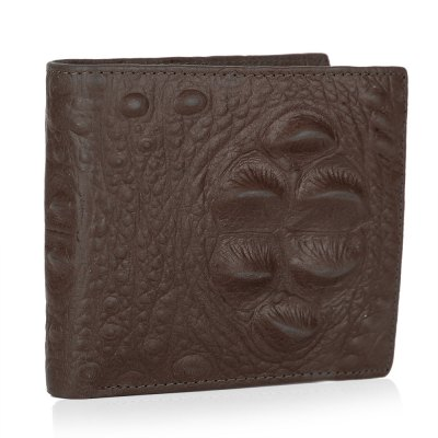 Crocodile Pattern Solid Color Open Horizontal Wallet