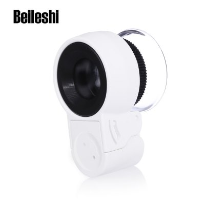 Beileshi Mini 45X Adjustable Magnifier with UV LED Light