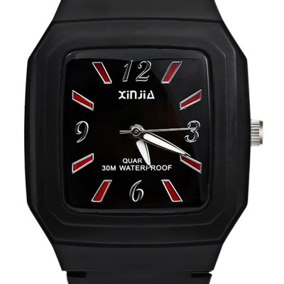 xinjia XJ - 110 Quartz WatchKids Watches<br>xinjia XJ - 110 Quartz Watch<br><br>Band Length: 7.48 inch<br>Band Material Type: PVC<br>Band Width: 15mm<br>Case material: Plastic<br>Case Shape: Square<br>Dial Diameter: 1.38 inch<br>Dial Display: Analog<br>Dial Window Material Type: Glass<br>Feature: Luminous<br>Gender: Children,Men,Women<br>Movement: Quartz<br>Package Contents: 1 x xinjia XJ - 110 Quartz Watch<br>Package Size(L x W x H): 27.00 x 5.50 x 1.00 cm / 10.63 x 2.17 x 0.39 inches<br>Package weight: 0.052 kg<br>Product Size(L x W x H): 24.00 x 4.00 x 0.50 cm / 9.45 x 1.57 x 0.2 inches<br>Product weight: 0.030 kg<br>Style: Fashion &amp; Casual<br>Water Resistance Depth: 30m