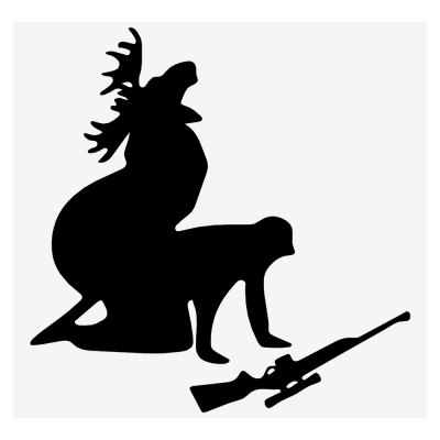 Elk Hunter Car Sticker