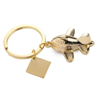3D Airplane Model Style Keyring