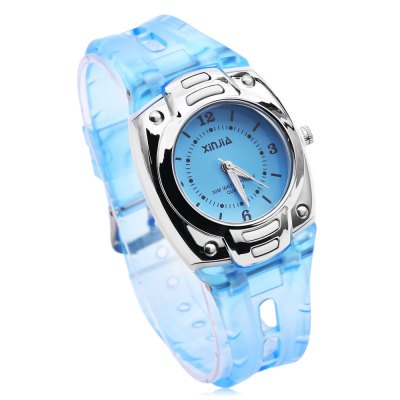 xinjia XJ - 108 Quartz WristwatchKids Watches<br>xinjia XJ - 108 Quartz Wristwatch<br><br>Band Length: 7.48 inch<br>Band Material Type: PVC<br>Band Width: 15mm<br>Case material: Plastic<br>Case Shape: Square<br>Dial Diameter: 1.38 inch<br>Dial Display: Analog<br>Dial Window Material Type: Glass<br>Gender: Children<br>Movement: Quartz<br>Package Contents: 1 x xinjia XJ - 108 Children Quartz Watch<br>Package Size(L x W x H): 26.00 x 6.50 x 2.00 cm / 10.24 x 2.56 x 0.79 inches<br>Package weight: 0.052 kg<br>Product Size(L x W x H): 23.00 x 4.00 x 1.00 cm / 9.06 x 1.57 x 0.39 inches<br>Product weight: 0.030 kg<br>Style: Fashion &amp; Casual<br>Water Resistance Depth: 30m