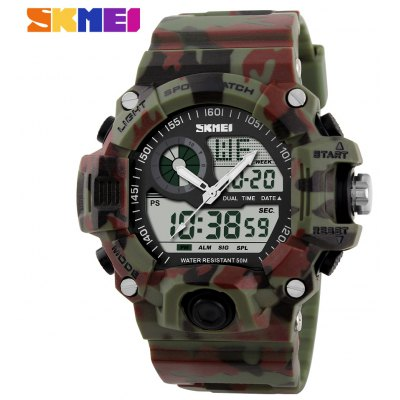 Skmei 1029 Double Movt Army LED Watch