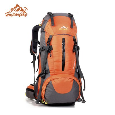 HUWAIJIANFENG 50L Large Capacity Waterproof Backpack