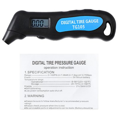 WHDZ TG105 Tire Air Pressure Digital Tester от GearBest.com INT