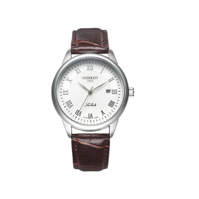 OSHRZO os8024p1 Men Quartz Watch Roman Numerals ScaleMens Watches<br>OSHRZO os8024p1 Men Quartz Watch Roman Numerals Scale<br><br>Band Length: 8.07 inch<br>Band Material Type: Leather<br>Band Width: 18mm<br>Case material: Alloy<br>Case Shape: Round<br>Clasp type: Pin Buckle<br>Dial Diameter: 1.65 inch<br>Dial Display: Analog<br>Dial Window Material Type: Glass<br>Feature: Date<br>Gender: Men<br>Movement: Quartz<br>Package Contents: 1 x Watch<br>Package Size(L x W x H): 24.50 x 5.50 x 2.00 cm / 9.65 x 2.17 x 0.79 inches<br>Package weight: 0.066 kg<br>Product Size(L x W x H): 25.00 x 4.50 x 1.00 cm / 9.84 x 1.77 x 0.39 inches<br>Product weight: 0.044 kg<br>Style: Fashion &amp; Casual