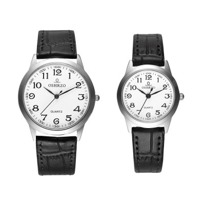OSHRZO os8039p1 Couple Quartz Water Resistance WatchCouples Watches<br>OSHRZO os8039p1 Couple Quartz Water Resistance Watch<br><br>Band Length: men: 9.25 inch, women: 8.27 inch<br>Band Material Type: Leather<br>Band Width: men: 18mm, women: 10mm<br>Case material: Alloy<br>Case Shape: Round<br>Clasp type: Pin Buckle<br>Dial Diameter: men: 1.57 inch, women: 1.18 inch<br>Dial Display: Analog<br>Dial Window Material Type: Glass<br>Gender: lovers,Men,Women<br>Movement: Quartz<br>Package Contents: 1 x Couple Watch<br>Package Size(L x W x H): 10.00 x 10.00 x 6.30 cm / 3.94 x 3.94 x 2.48 inches<br>Package weight: 0.189 kg<br>Product Size(L x W x H): 23.50 x 7.00 x 0.50 cm / 9.25 x 2.76 x 0.2 inches<br>Product weight: 0.049 kg<br>Style: Fashion &amp; Casual